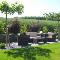 Garten auf zwei Ebenen